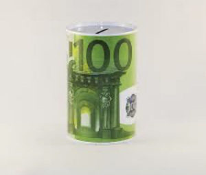 Kasica EURO 100 metalna limena prasica