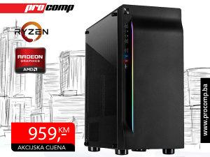 Gaming Računar AMD Ryzen 5 2600, AMD Radeon RX 580 8GB