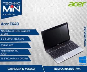 Acer E640, Athlon II P320 2.1/3/320/DVD-RW/Cam