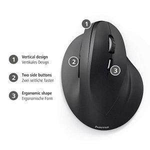 Mis HAMA EMW-500 ergonomski wireless opticki (10187)