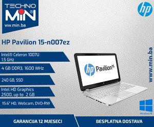 HP 15-n007ez, Celeron 1007U 1.53/4/240SSD/Cam
