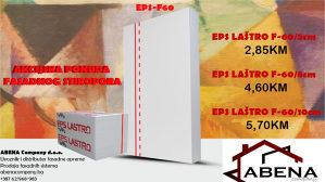 FASADNI STIROPOR EPS LASTRO F-60/8