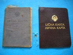 Lična karta NRBiH i SFRJ  - 2 komada