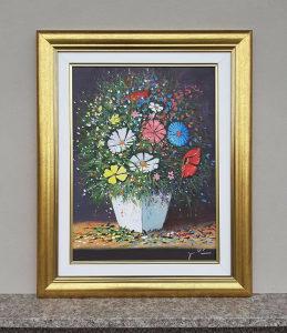 Umjetnicka slika, Cvijece u vazi, Ulje na platnu