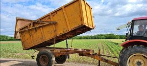 Prikolica traktorska kiper damper