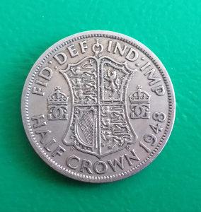 Velika Britanija-Engleska Half crown 1948.
