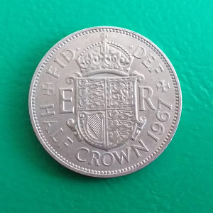 Velika Britanija-Engleska Half crown 1967.
