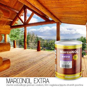 Marconol EXTRA premaz za drvo s VOSKOM i UV zaštitom