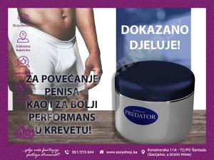 PREDATOR - KREMA ZA POVEĆANJE PENISA www.sexyshop.ba
