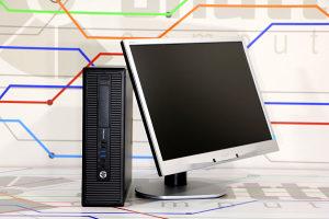"HP 800 G1 SFF i5 4.Gen + Monitor 22"" LED"