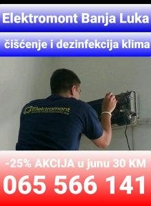 Klima servis čišćenje i dezinf. 065 566 141 B.Luka