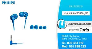 Slušalice sa mikrofonom PHILIPS SHE3555BL/00