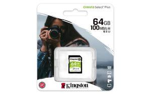 KINGSTON 64GB SD CARD CLASS 10 CANVAS PLUS (0026321)