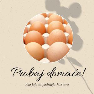 Domaća jaja iz Hercegovine