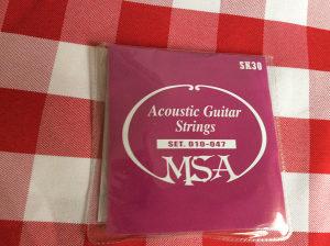 """zice za akusticnu gitaru MSA debljine 010"""""""