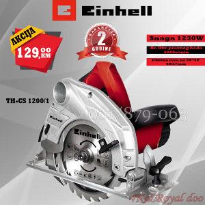 Einhell ručni cirkular pila TH-CS 1200/1