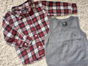 Kosuljica i pulover za djecake h&m