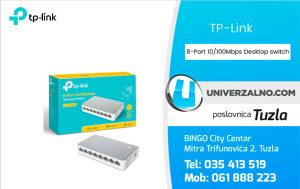 8-Port 10/100mbps Desktop Switch-EU