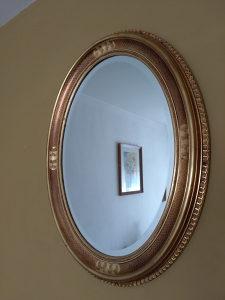 Ogledalo 670x860 mm drveni pozlaćeni okvir