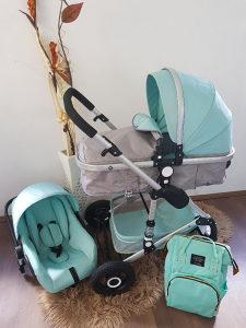 Djecija kolica za bebe set 2u1 Novo AKCIJA