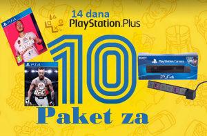 UFC 3 FIFA 20 PS4 kamera PS Plus 14 dana
