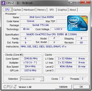 Core 2 Duo E6550 2.33 GHz