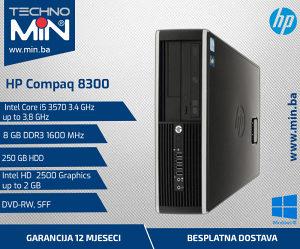 HP Compaq 8300, i5 3570 3.4/8/250/DVD-RW/SFF