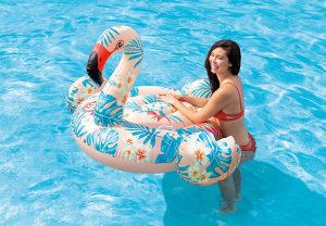 INTEX dusek madrac flamingo za bazen 142x137x97 cm NOVO