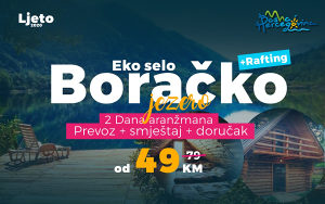 Tura Boračko jezero prevoz i smještaj 49KM i Rafting