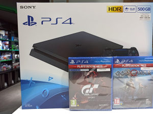 PlayStation 4 500GB+GT Sport+God of War