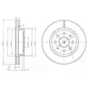Prednji kočioni diskovi 62077 - Kia