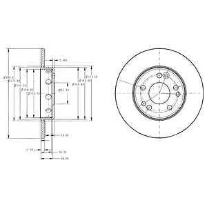 Prednji kočioni diskovi 181627 - Mercedes
