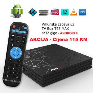 AKCIJA - Android  Box T95 Max  4/32g. -KODI, IPTV, EON