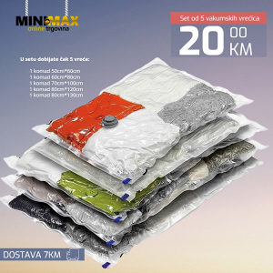 Vakumske vreće za pohranu odjeće set 5 komada