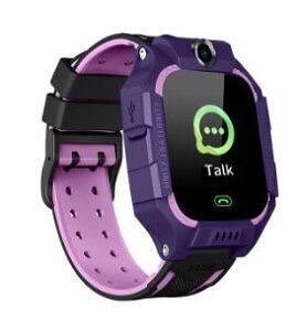 Pametni sat za decu Q19, LBS + GPS, SOS taster, Geo Fance, Pozivi, SMS, ljubičasta