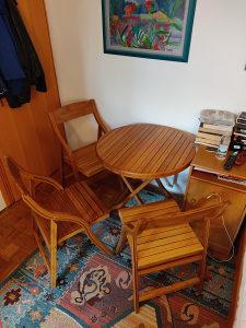 Stol i 4 stolice bambus