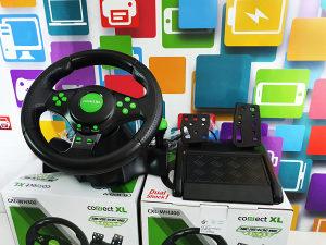 Gaming volan 3u1 PS2 PS3 PC vibracija pedale WH300