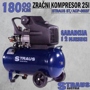 Kompresor Zraka-STRAUS 25l-12mj.Garancije