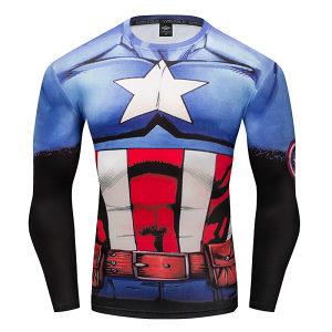 Kompresiona majica Captan America Majica za Trening