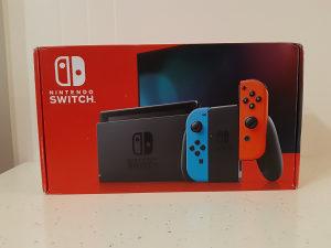 Nintendo Switch V2 Novi Model 2019 Neon Blue