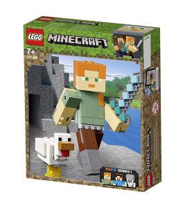 Igračka Minecraft Bigfig Alex sa piletom 21149 LEGO