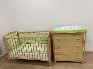 Krevetic i komoda za bebe