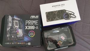 Ryzen Threadripper 2970wx  ASUS Prime x399a Kraken x62