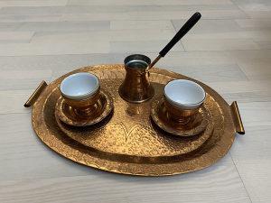 Bakarni bakreni set za kafu