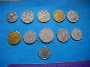 Kovanice razne i žetoni lot 11 komada