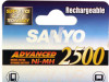 Punjive baterije SANYO ADVANCED 2xAA Ni-MH 2500mah