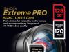 SanDisk 128 GB SDXC ExtremePro 170MB/s V30 UHS-I U3