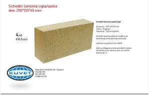 Schiedel šamotna cigla / opeka 250*125*65 mm