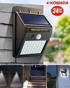 4x SOLARNI REFLEKTORI SA SENZOROM 30 LED dioda