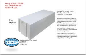 Ytong blok / siporex blok  625 x 200 x 200 mm